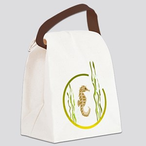 SEAHORSE [4] Canvas Lunch Bag